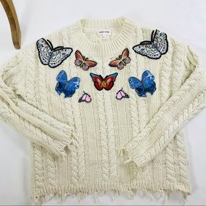 Bloomingdale s Sweaters - Sunset   Spring Butterfly cable knit sweater. b6eeaae0c